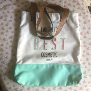 Benefit Bags - Laughter is the best cosmetic tote bag by Benefit
